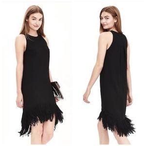 Banana Republic Black Fringe Dress